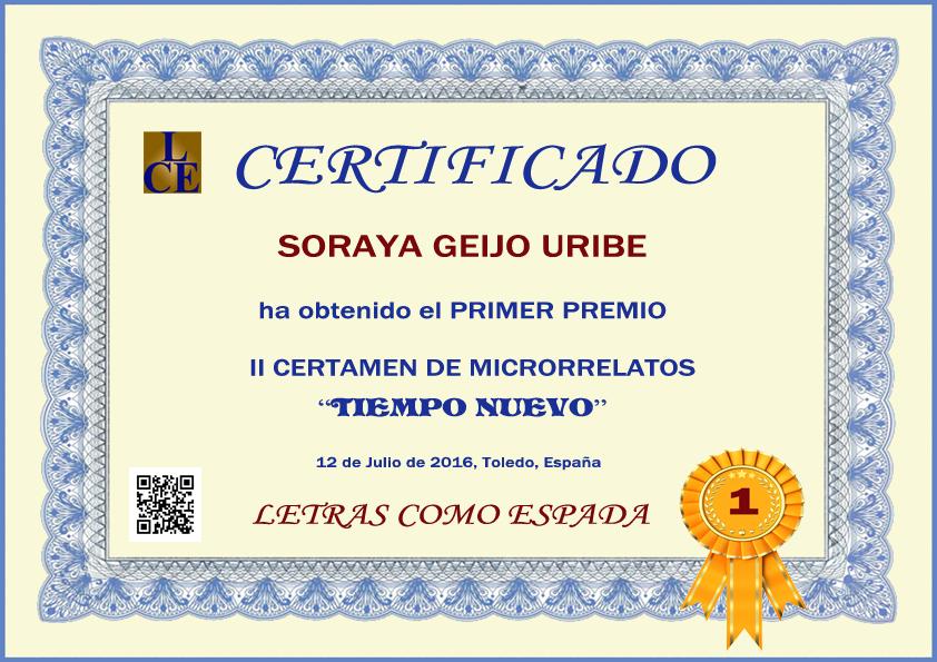 Ganador del II Certamen de Microrrrelatos